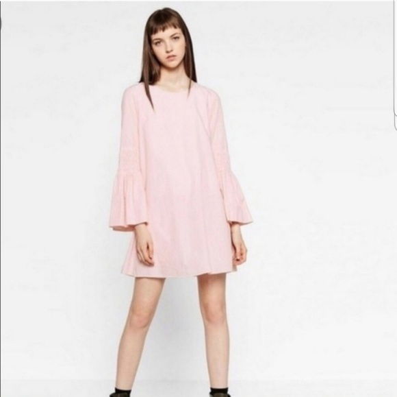 clearance sale famous brand online here Zara pink white stripe playsuit medium